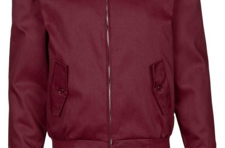 Harrington jacket bordeaux rood 1