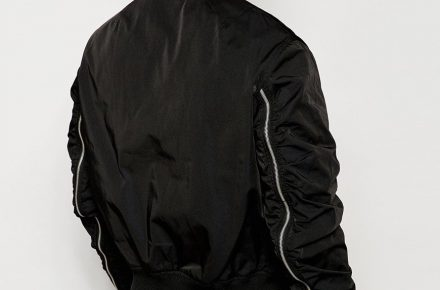 ASOS black bomber jacket 2