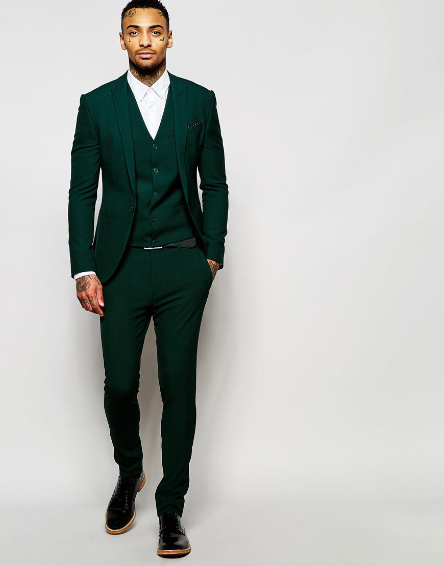 Asos green suit 2