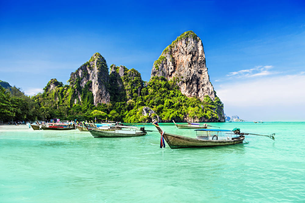 Thailand longtail boats