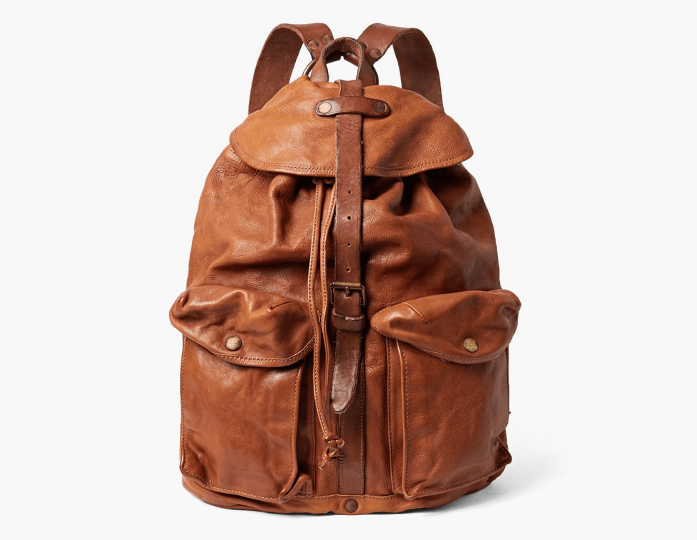 RRL Leather Backpack