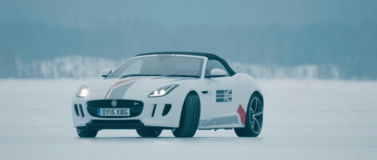 Jaguar F-Type R on Ice