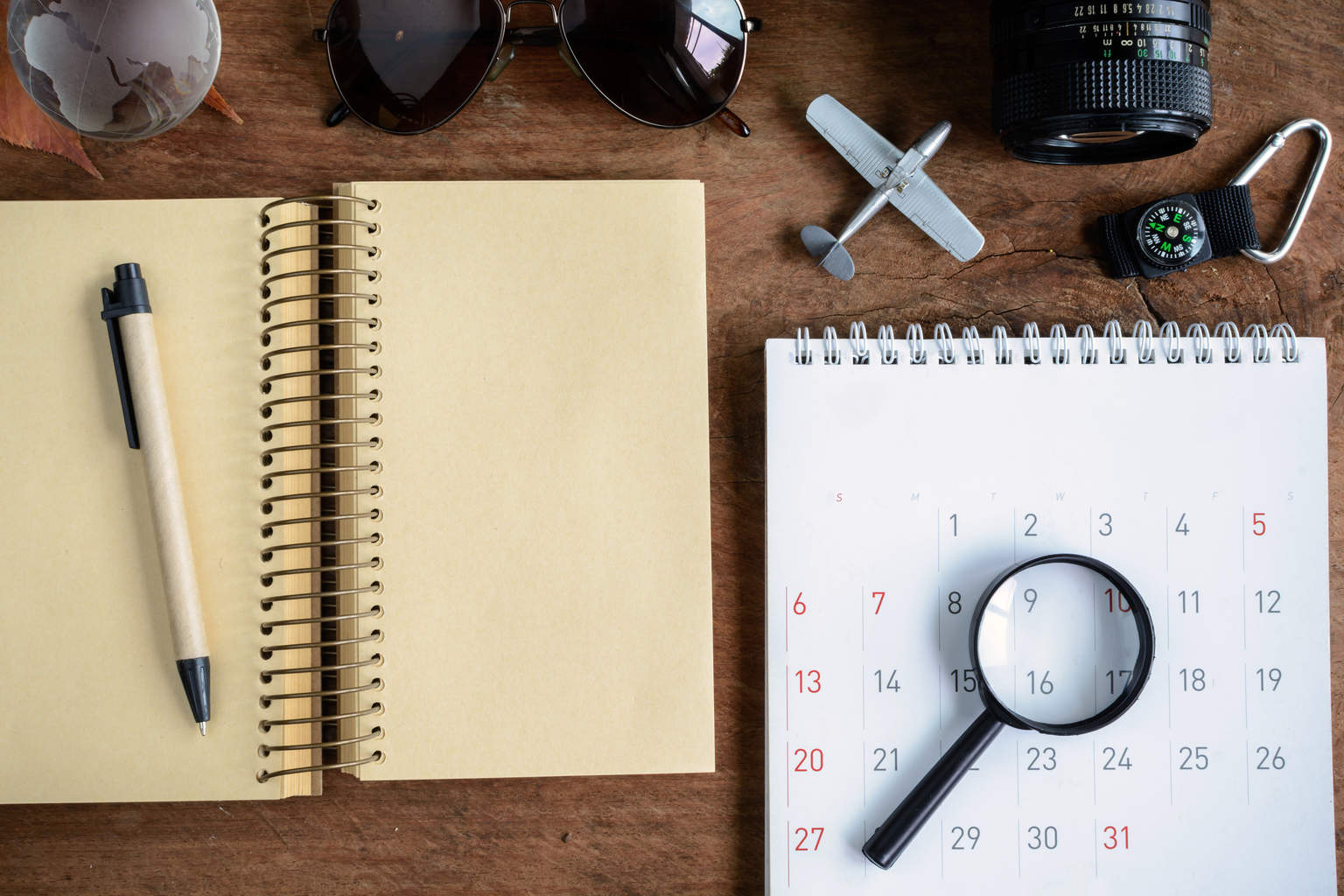 Outfit Of Traveler diary And Calendar,travel Planning