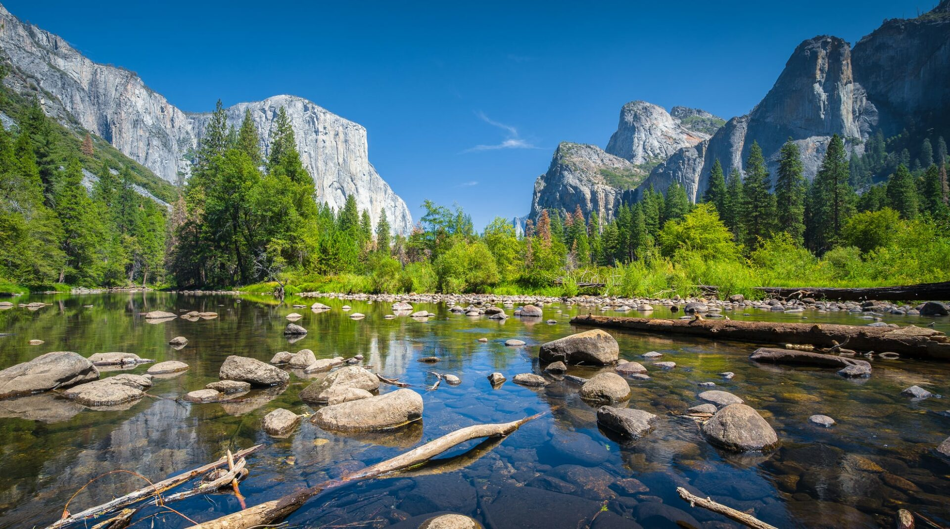 Yosemite Valley In Summer, California, Usa