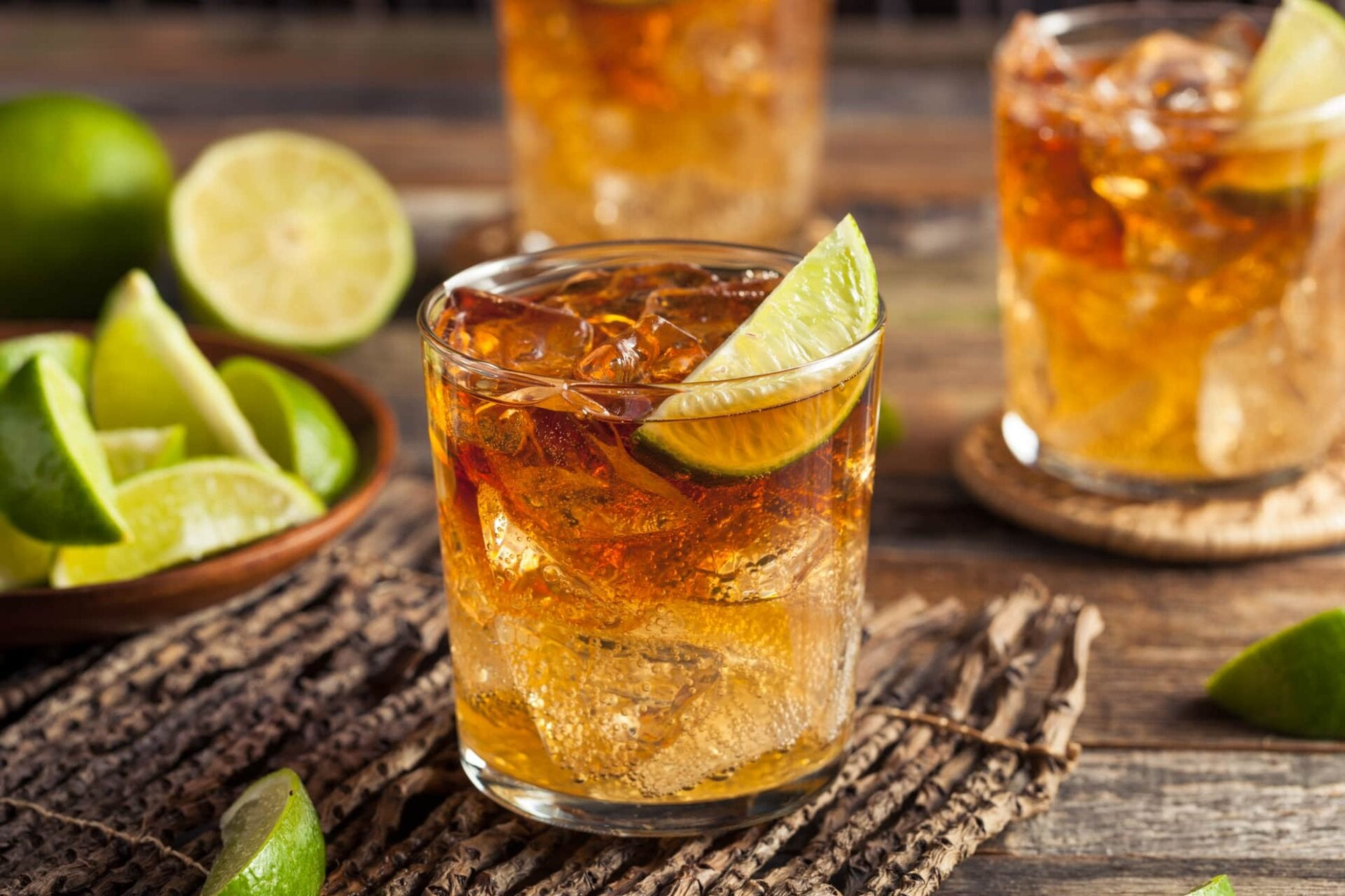 Dark n stormy cocktails